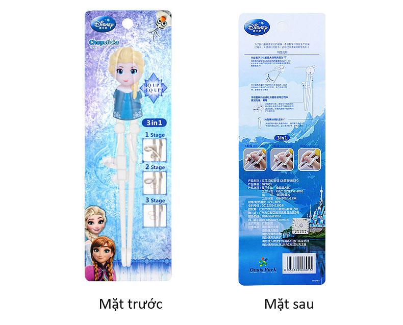 Đũa tập ăn cho bé 3D Disney Frozen - Công chúa Elsa