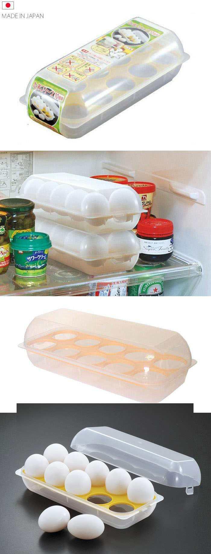 Hộp bảo quản trứng 10 ngăn có nắp D-5047 hàng Nhật