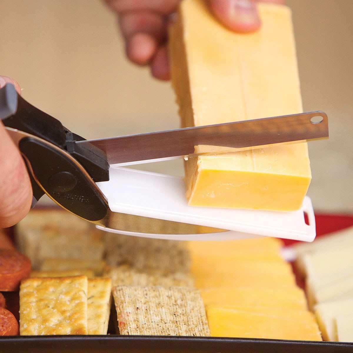 Kéo cắt rau củ đa năng Clever Cutter 3 trong 1