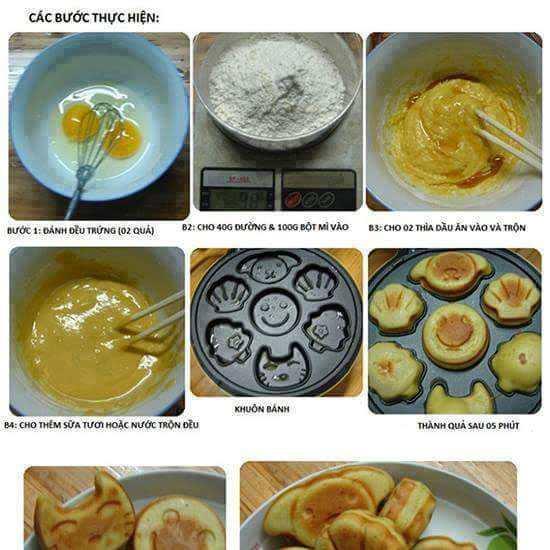 Máy làm bánh hình thú philips