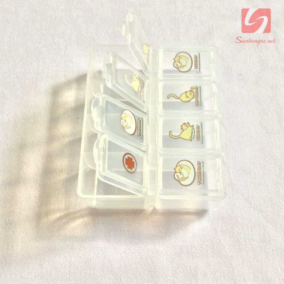 Hộp đựng thuốc 8 ô Pill Case DM1083