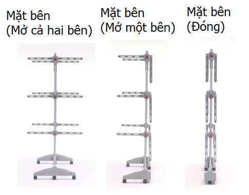 Giàn phơi thông minh 3 tầng 6 giàn Inox WizHome Hàn Quốc