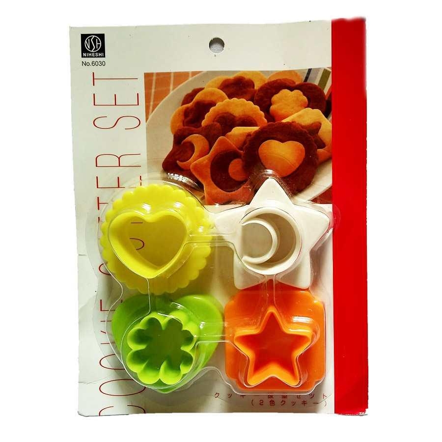 Bộ 4 khuôn làm bánh các hình Niheshi 6030 hàng Nhật