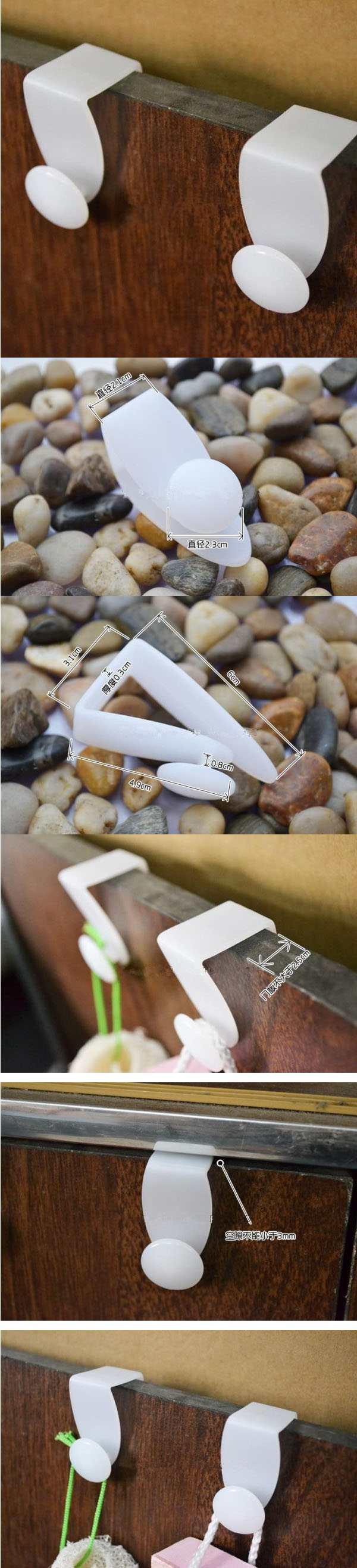 Bộ 2 móc gài cánh tủ treo túi nilon KM-1137 hàng Nhật