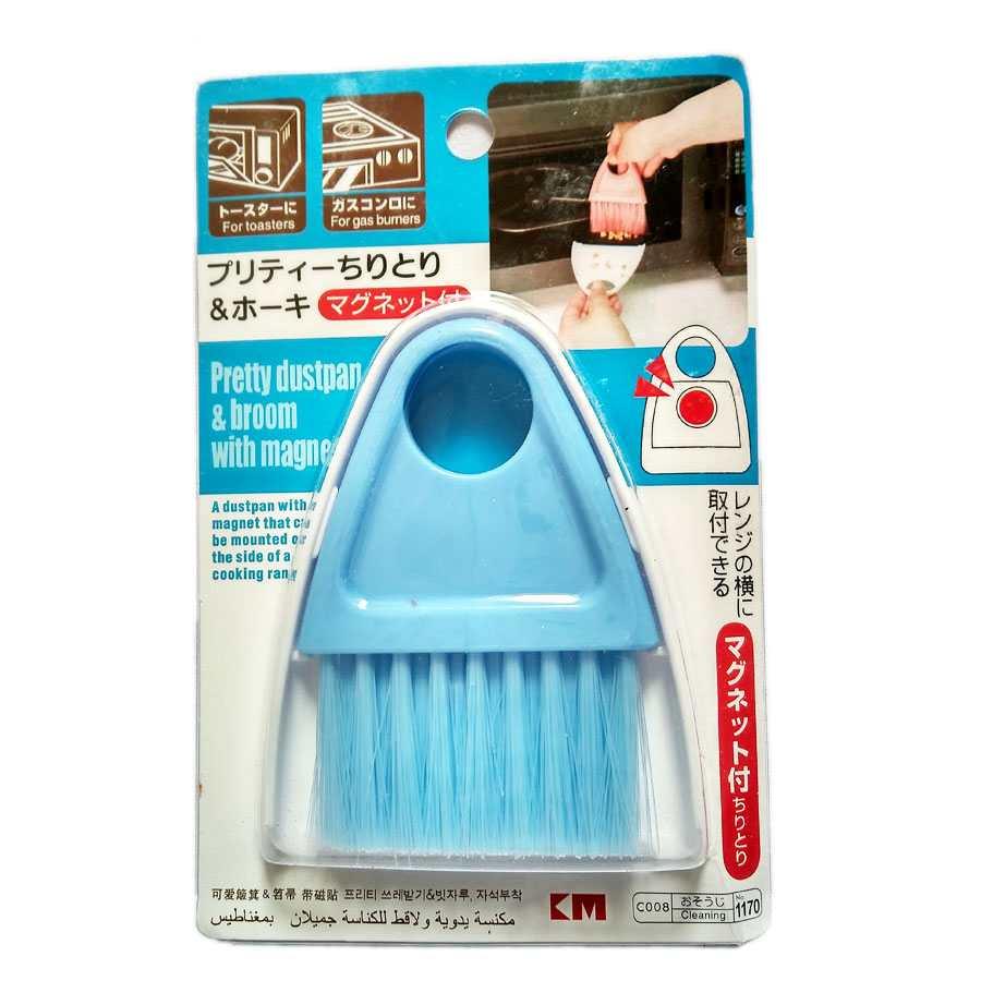 Bộ chổi xẻng quét bụi có nam châm mini KM-1170 hàng Nhật