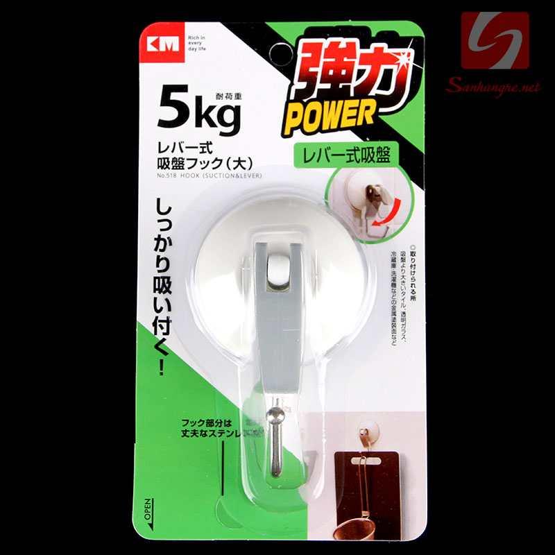 Móc nhựa hít tường 5kg KM-518 hàng Nhật