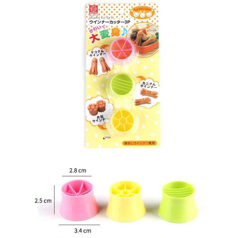 Bộ 3 dụng cụ cắt tạo hình xúc xích Niheshi 6112 hàng Nhật