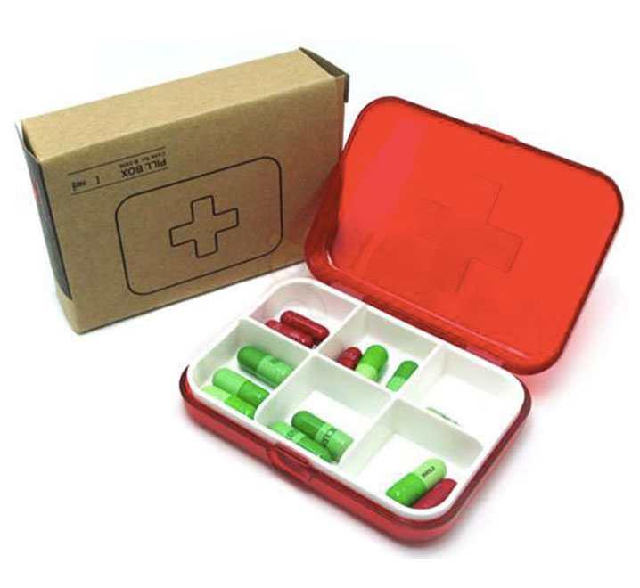 Hộp đựng thuốc 6 ngăn Pill Box TM07026B hàng Nhật