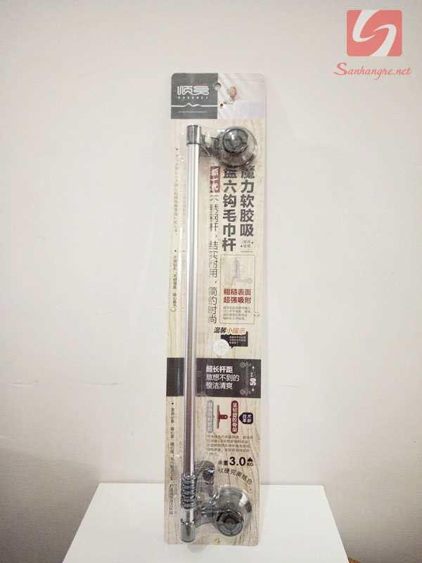 Thanh treo Inox 50cm và 5 móc SM-1762