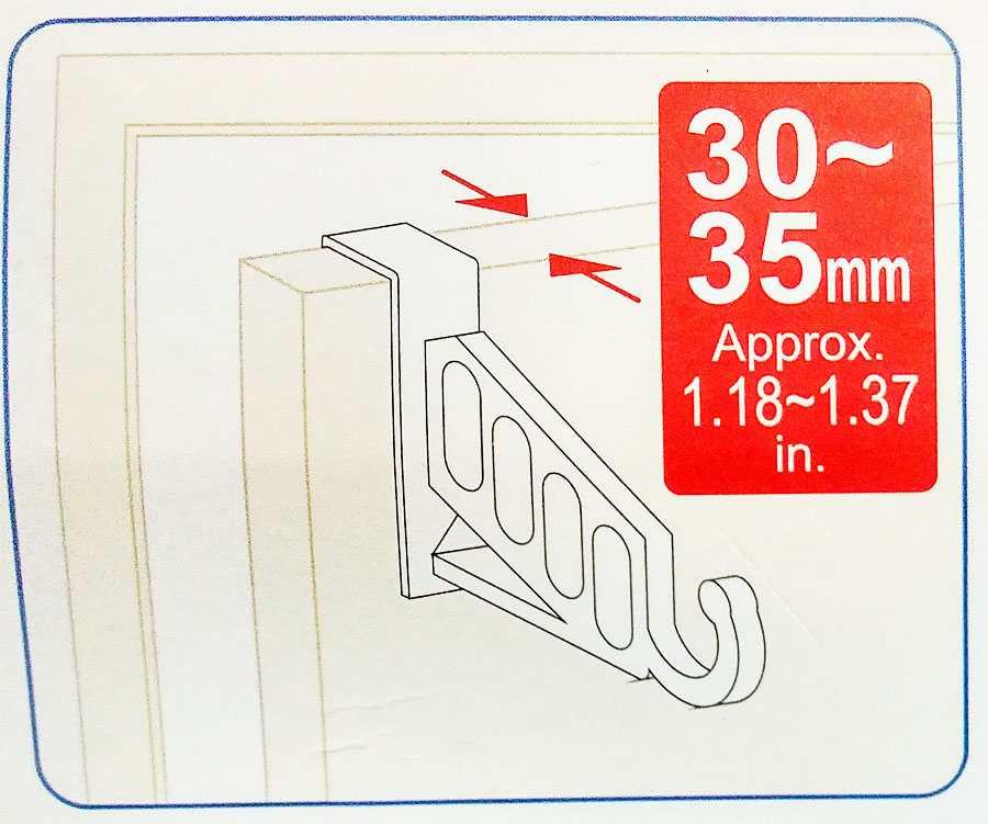 Móc treo quần áo gài cánh cửa 5kg G10-234