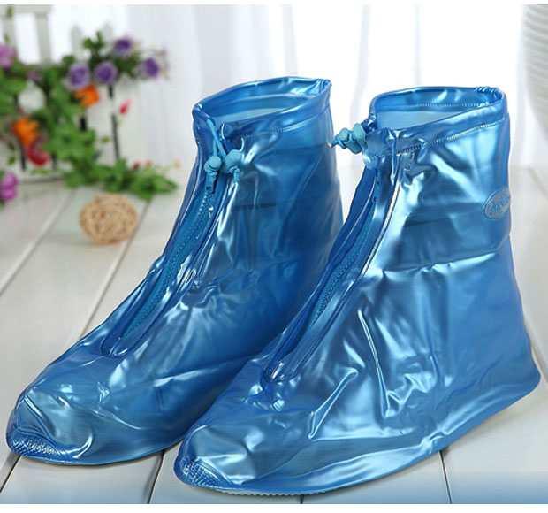 Ủng đi mưa bảo vệ giầy cố ngắn đế chống trơn