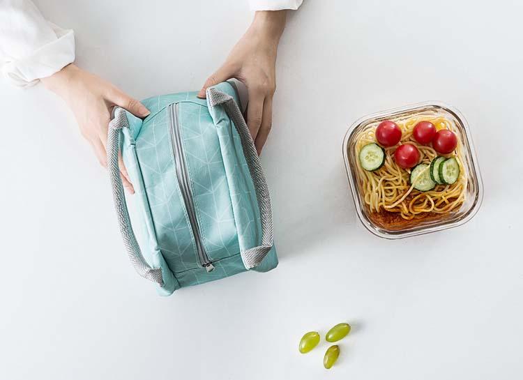 Túi giữ nhiệt đựng thực phẩm đồ ăn họa tiết hoa văn