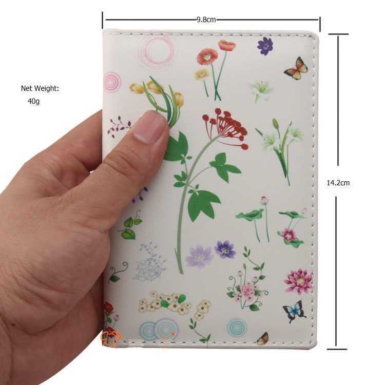 Vỏ bọc hộ chiếu chất liệu da họa tiết hoa văn