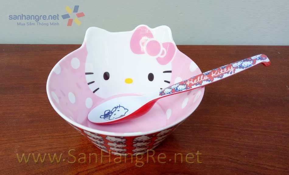 Bộ đồ dùng ăn hình Hello Kitty cho bé hàng xuất Nhật