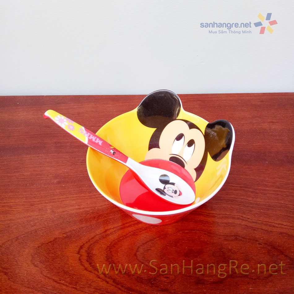 Bộ đồ dùng ăn hình Micky Mouse cho bé hàng xuất Nhật