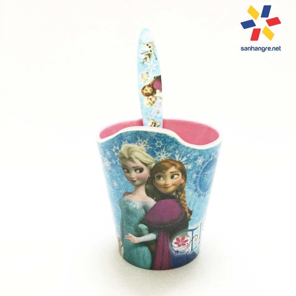 Bộ đồ dùng ăn hình Elsa và Anna cho bé hàng xuất Nhật