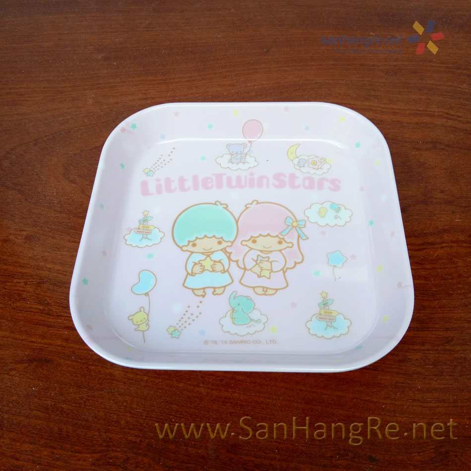 Bộ đồ dùng ăn hình Little Twin Stars cho bé hàng xuất Nhật