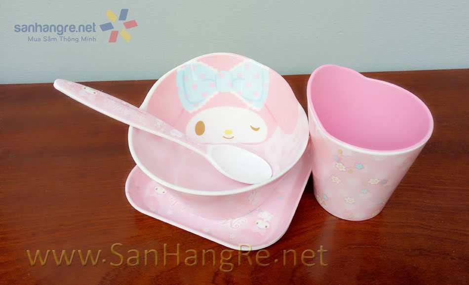 Bộ đồ dùng ăn hình My Melody cho bé hàng xuất Nhật