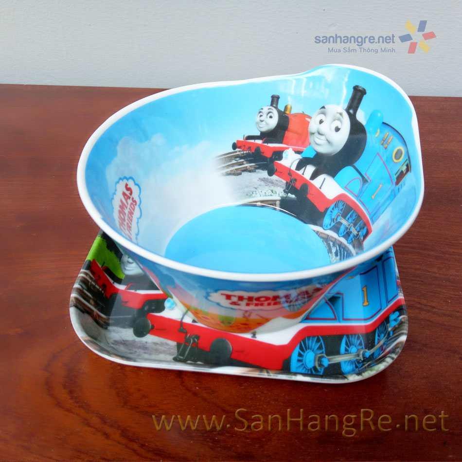 Bộ đồ dùng ăn hình Đầu tàu Thomas cho bé hàng xuất Nhật