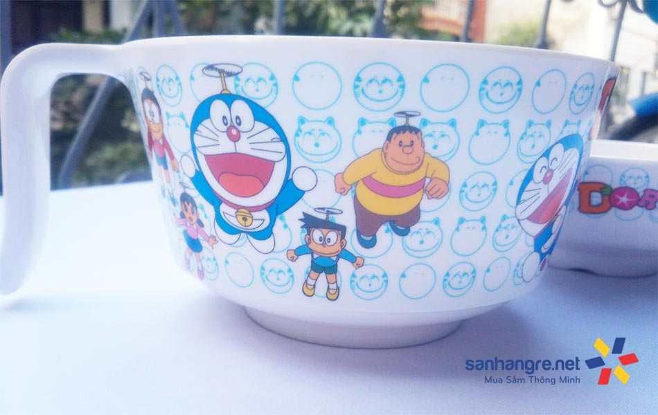 Bộ tô mì và bát ăn 2 trong 1 Doraemon