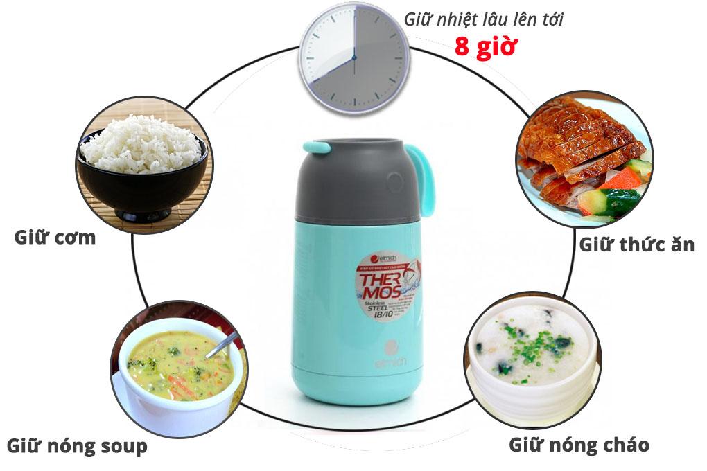 Bình đựng thức ăn giữ nhiệt Elmich EL2355