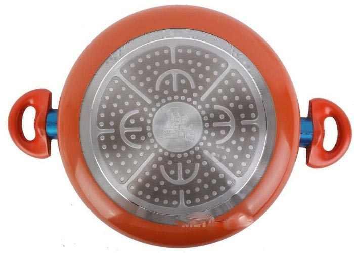 Nồi lẩu tráng sứ Elmich Smartcook vung kính đáy từ 26cm 2355552