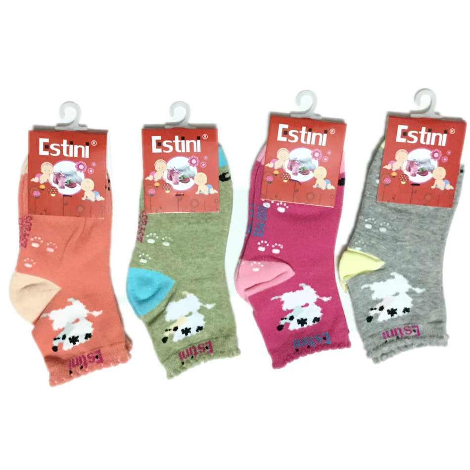 Bộ 4 đôi tất len chống trượt Estini cho bé từ 1 đến 5 tuổi