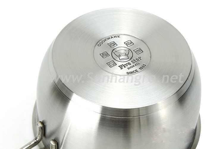 Nồi quánh Inox 3 đáy nắp kính Fivestar 18cm FTS18