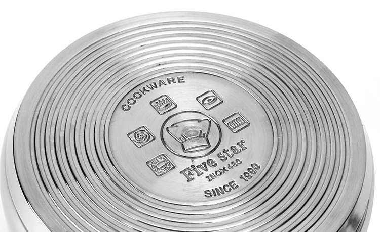 Bộ nồi xửng hấp Inox 3 đáy nắp kinh Fivestar 24cm