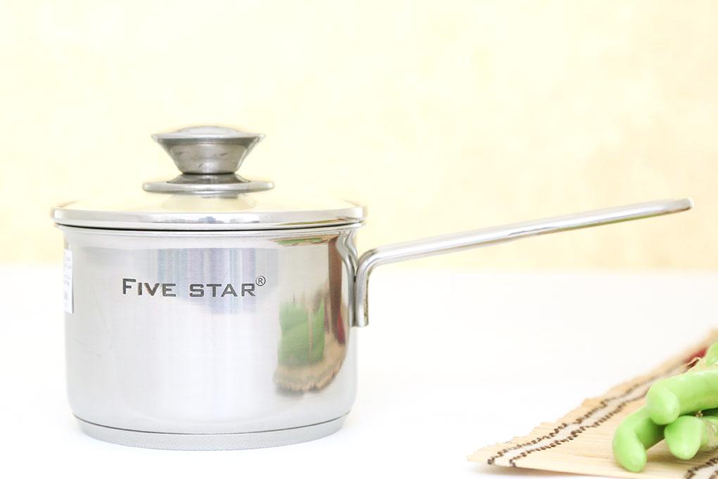 Quánh nấu bột Inox 3 đáy 12cm Fivestar nắp kính dùng bếp từ
