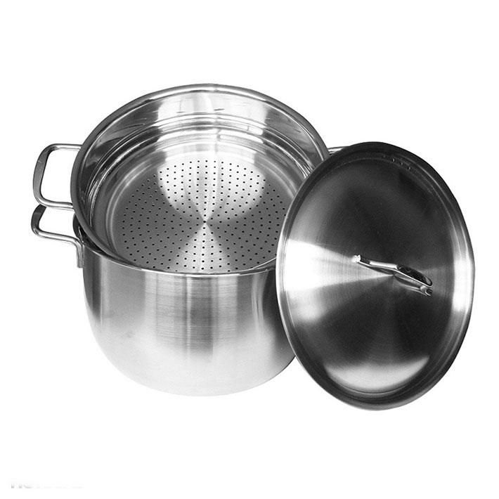 Bộ nồi hấp Inox Fivestar 24cm dùng được cho bếp than, bếp điện, bếp gas và bếp từ.