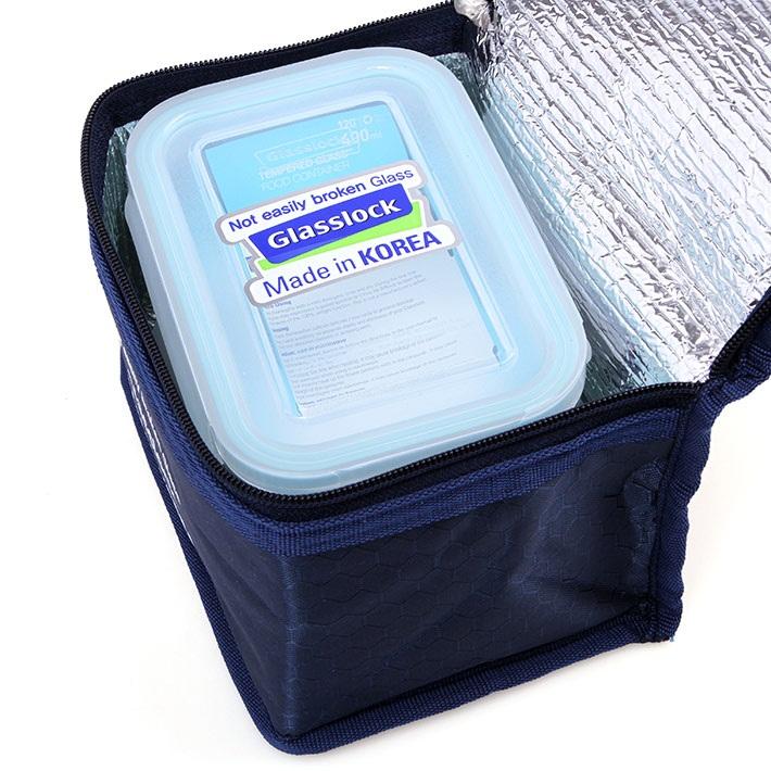 Bộ 2 hộp thủy tinh 400ml và túi giữ nhiệt Glasslock