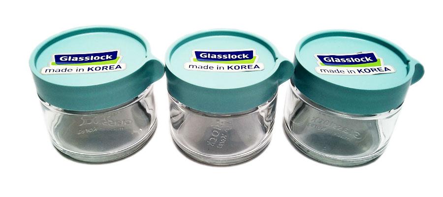 Bộ 3 lọ thủy tinh Glasslock có nắp IG-785 hàng Hàn Quốc