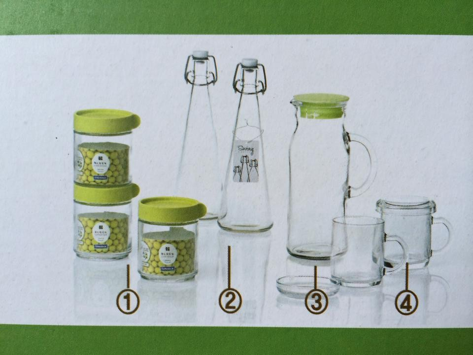 Bộ gia vị 10 món thủy tinh cao cấp Glasslock