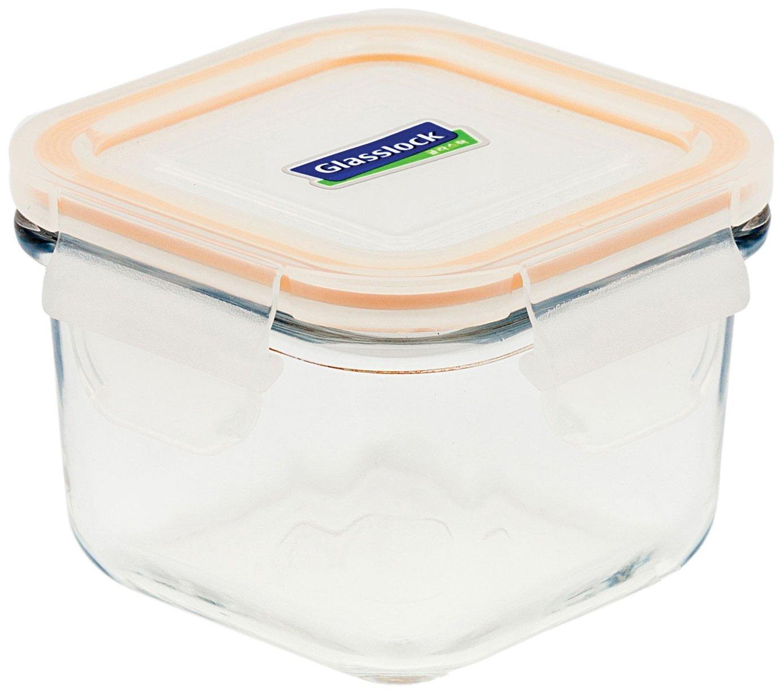 Bộ 3 hộ thủy tinh vuông đựng đồ ăn dặm glasslock Hàn Quốc 210ml GL544