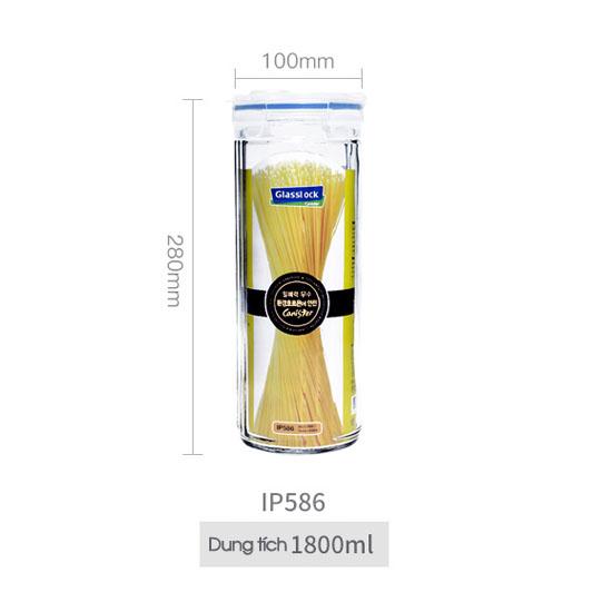 Hũ thủy tinh Glasslock Canister IP586 1800ml