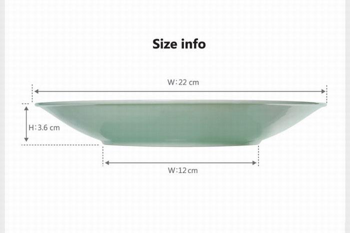 Đĩa sứ cao cấp Donghwa vân hoa sen 22cm
