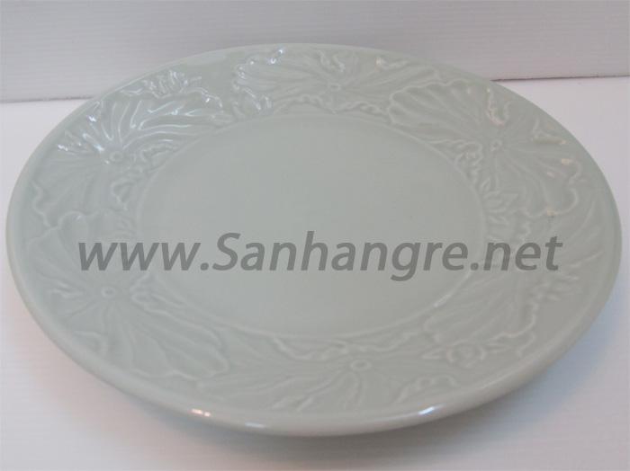Đĩa sứ cao cấp Donghwa vân hoa sen