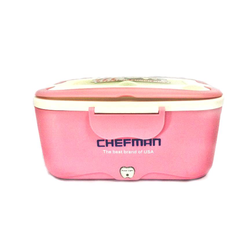 Hộp cơm hâm nóng Chefman Inox CM-112I (Hồng)
