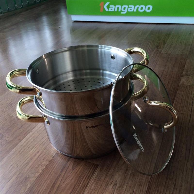 Bộ nồi xửng hấp Inox Kangaroo KG871 24cm