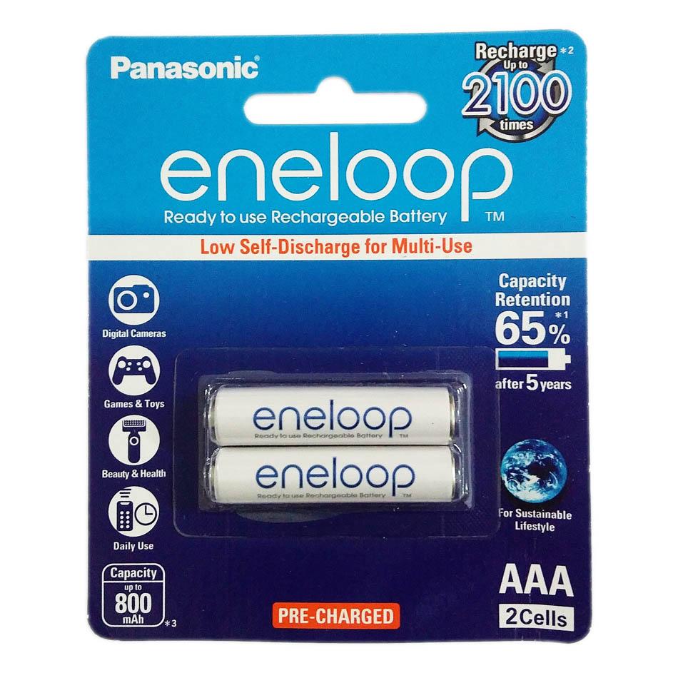 Bộ 2 pin sạc AAA Panasonic Eneloop 800mAh BK-4MCCE/2BV