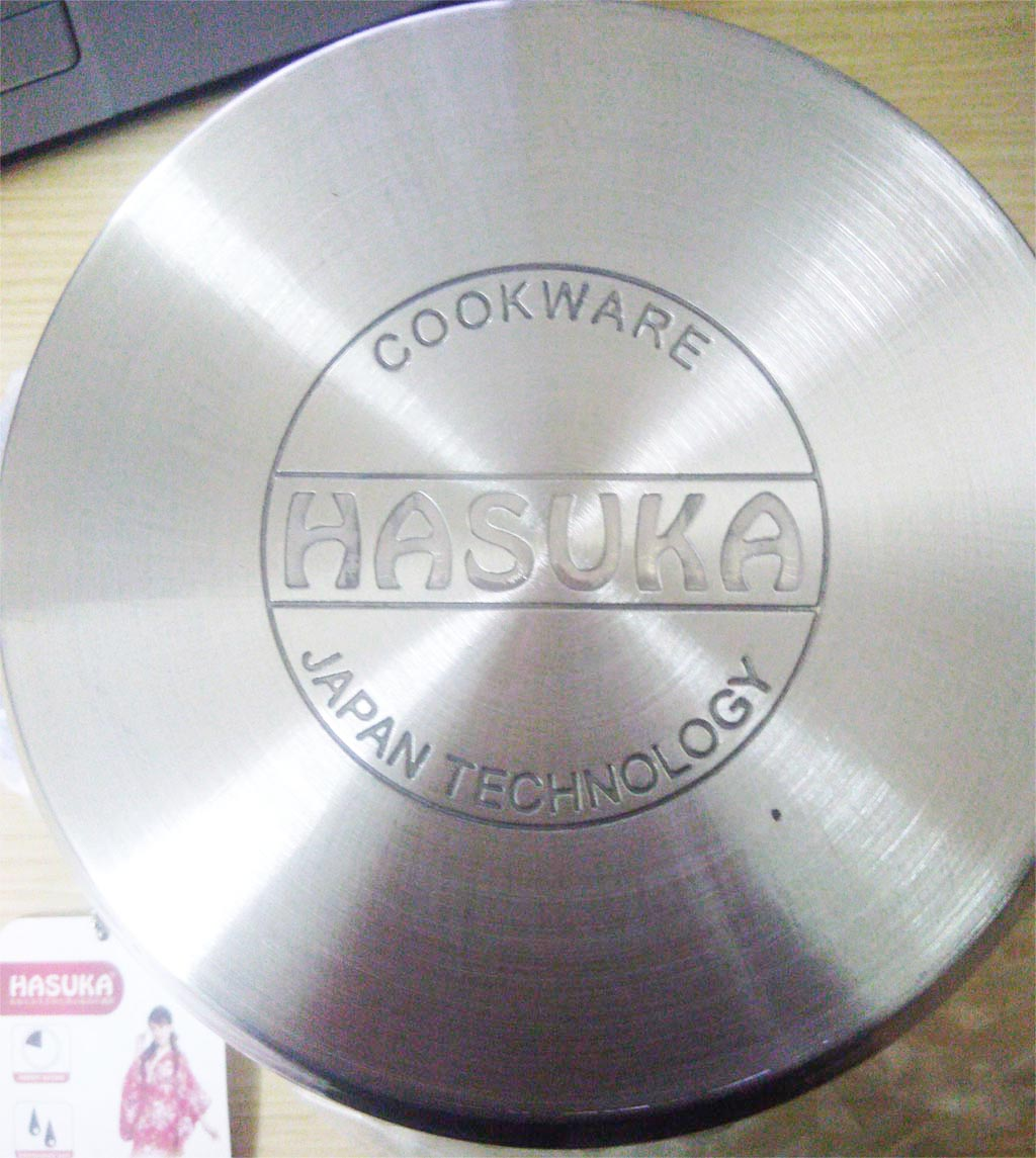 Bộ 3 nồi Inox 16 - 20 - 24cm Hasuka nắp kính dùng bếp từ