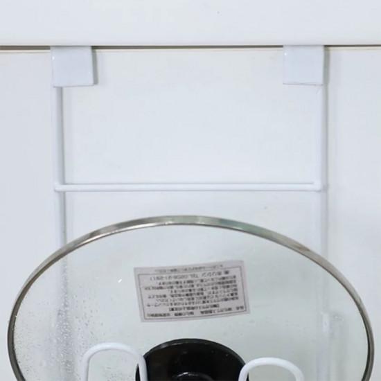 Giá 2 Tầng Treo Cánh Cửa Tủ Bếp Gác Nắp Xoong Nồi MS2067 Xuất Nhật