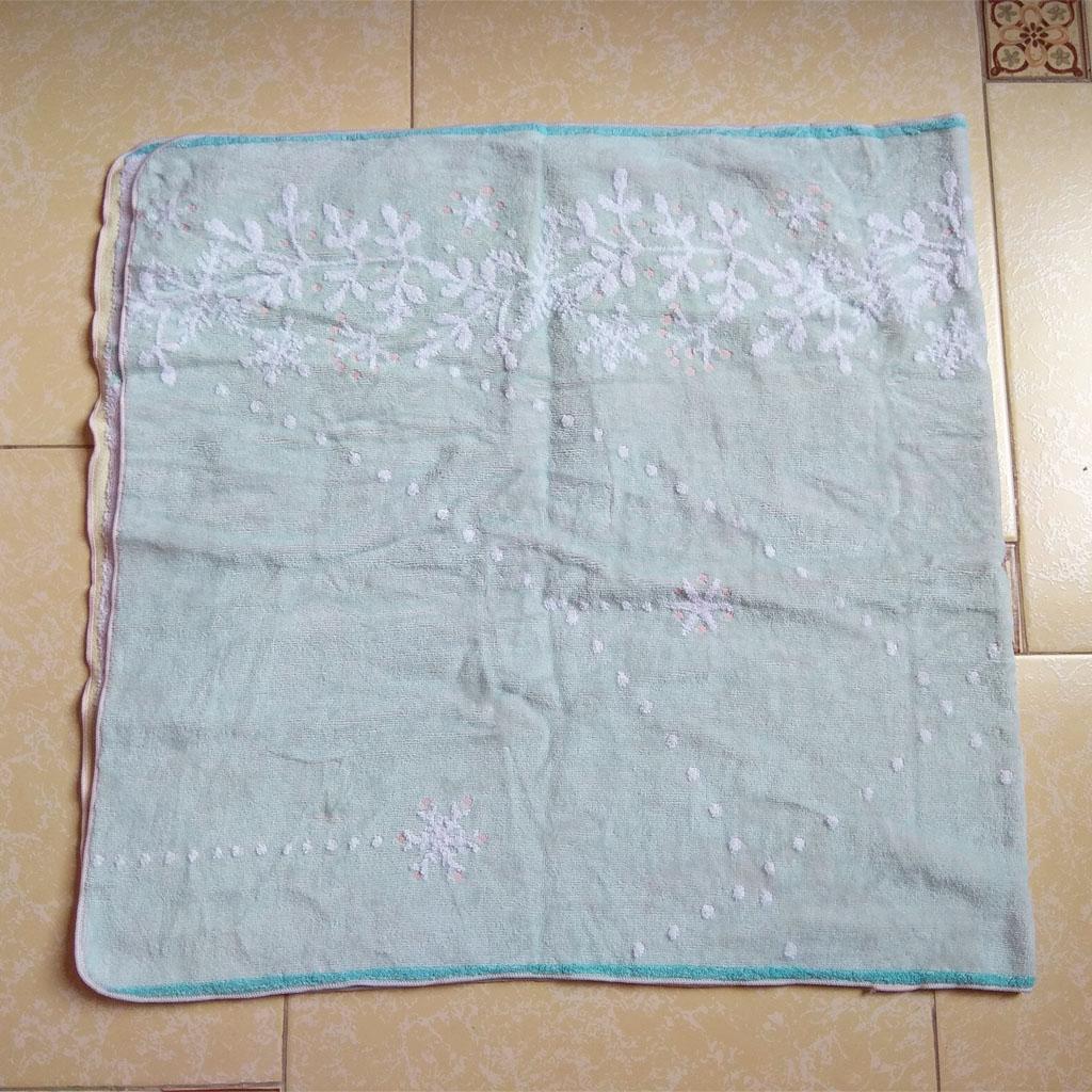 Khăn tắm xanh hoa tuyết Songwo Antique 110x65cm