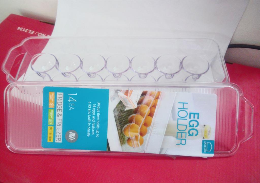 Khay đựng trứng 14 ngăn trong tủ lạnh có nắp Lock&Lock INP626