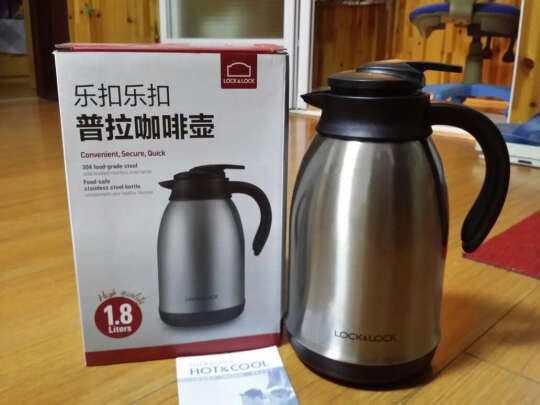 Bình giữ nhiệt Inox 304 pha cafe Lock&lock Plump Coffet Pot 1.8L có tay cầm