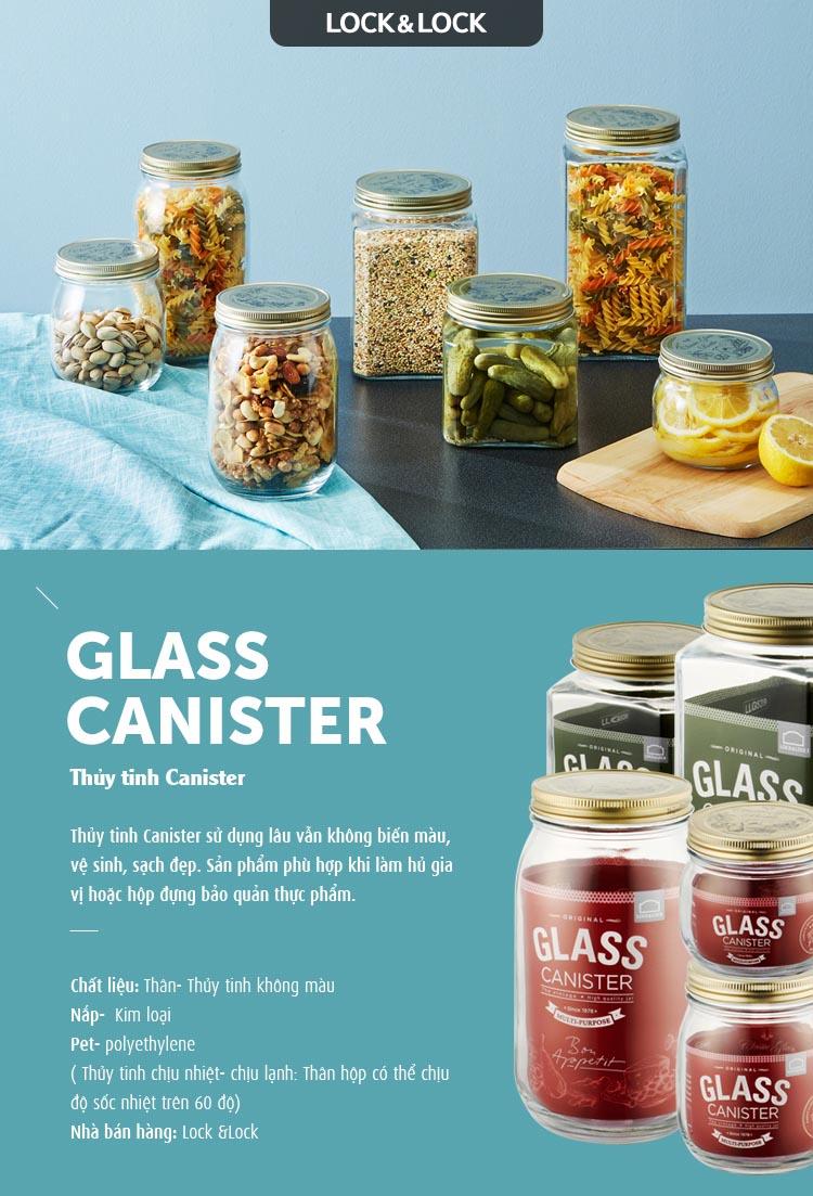Hũ thủy tinh đựng thực phẩm Lock&lock Glass Canister LLG539 2.3L