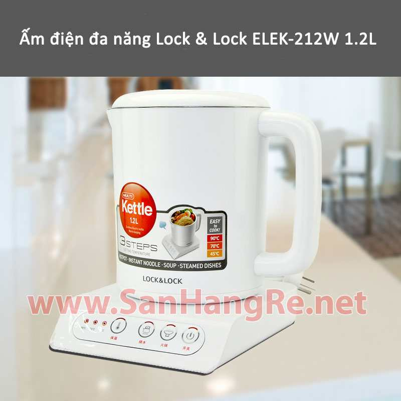Ấm điện đa năng Lock&Lock ELEK-212W 1.2L