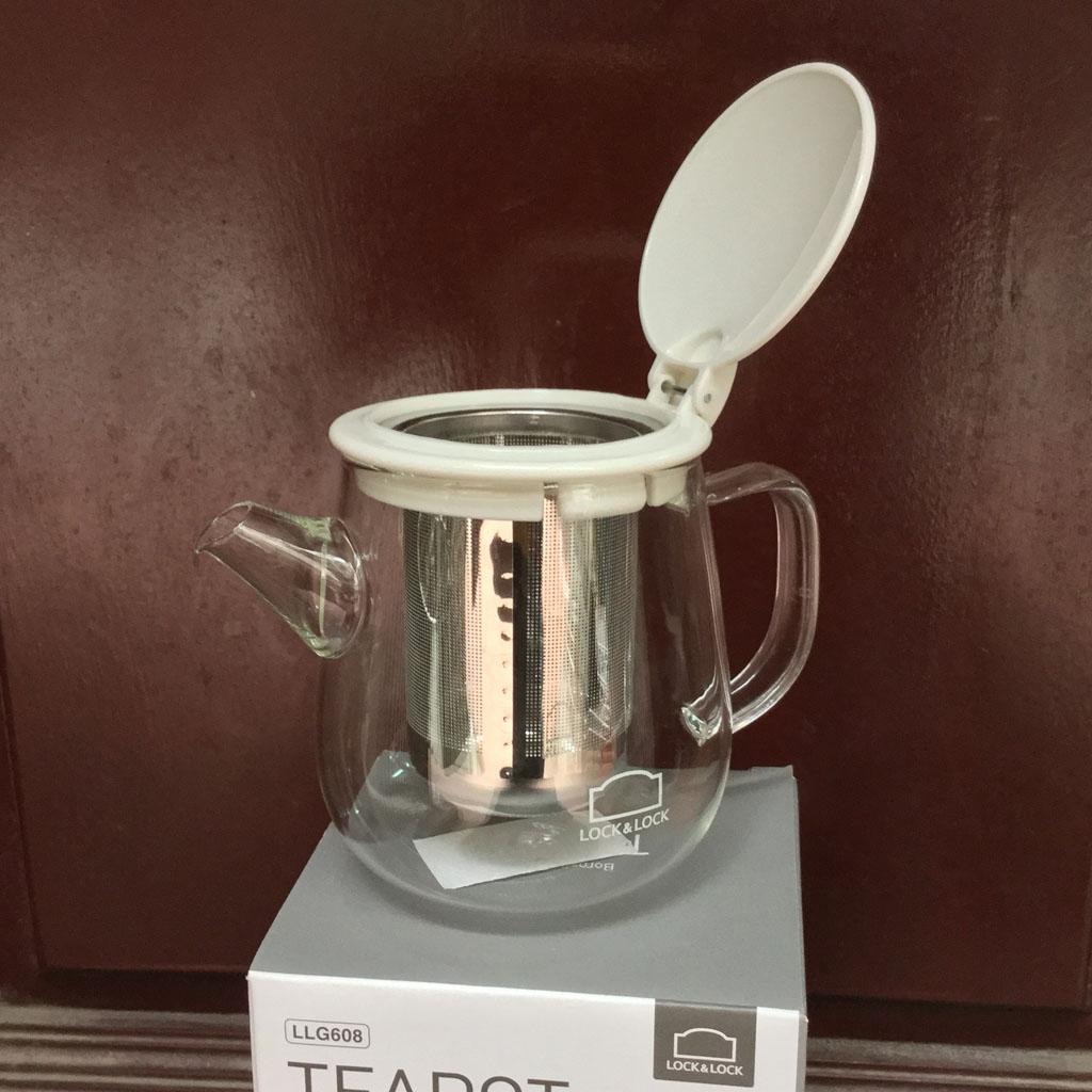 Bình lọc trà thủy tinh có tay cầm Lock&lock Teapot LLG608 400ml