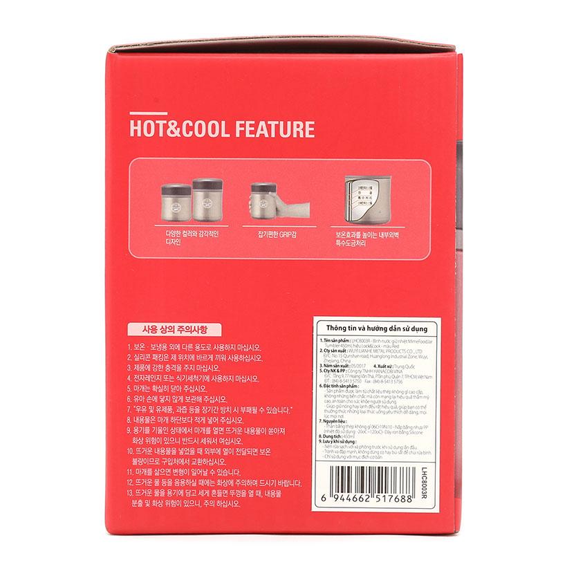 Bình giữ nhiệt nấu cháo Lock&lock HOT&COOL LHC8003V 450ml